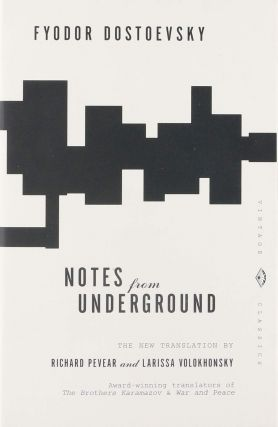 Notes from underground. RUSSIAN LITERATURE, Fyodor Dostoevsky