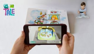 Kolobok [Колобок]. Tales books for kids in Ukrainian and English with Augmented Reality